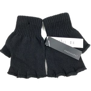 NEW Parkhurst 100% Wool Fingerless Gloves Mittens